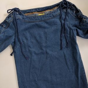 EUC Maeve by Anthropologie Denim Dress